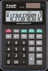 kalkulačka KW TR-2296T voděodolná 12 míst černá 120-1425-12 míst,