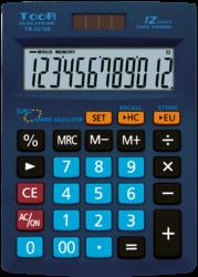 kalkulačka KW TR-2216E EURO 12 míst modrá 120-1872-12 míst, měnová