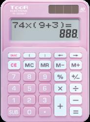 kalkulačka KW TR-1223DB-P dvouřádková růžová 120-1902-10 míst, 2řádkový displej