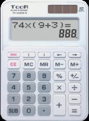 kalkulačka KW TR-1223DB-W dvouřádková bílá 120-1900-10 míst, 2řádkový displej