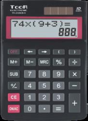 kalkulačka KW TR-2429DB-K dvouřádková černá 120-1903-10 míst, 2řádkový displej