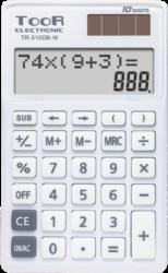 kalkulačka KW TR-310DB-W dvouřádková bílá 120-1904-10 míst, 2řádkový displej