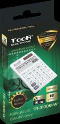 kalkulačka KW TR-310DB-W dvouřádková bílá 120-1904(5903364218751)