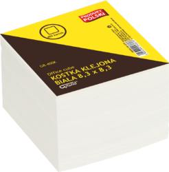 kostka   lepená  bílá  8,3x8,3x4 150-1275