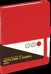 záznamní kniha KW A5 čtverec 80l koženka červená 150-1382