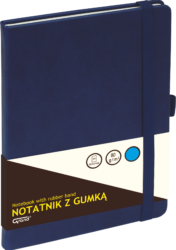 záznamní kniha KW A5 čtverec 80l koženka modrá 150-1383