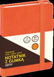 záznamní kniha KW A6 čtverec 80l koženka oranžová 150-1402