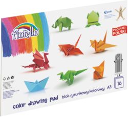 blok F barevný papír A3 mix 80g 16l 150-1437