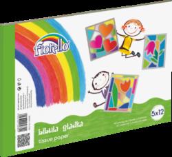 barevné papíry hedvábné Fiorello 5 ks x 12 bar. 170-2346