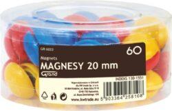 magnet v plastu barevný mix 60ks 130-1551