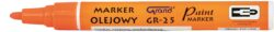 popisovač lakový GR-25 oranžový 160-2008-světlostálý, nesmyvatelný popisovač