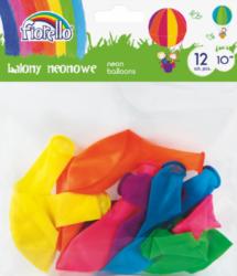 """balónky  12ks Fiorello neon mix 10"""" 170-2452"""