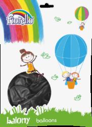 """balónky 100ks Fiorello  černé metalic 10"""" 170-2501"""