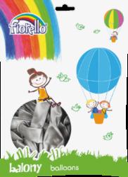 "balónky 100ks Fiorello  stříbrné 10"" 170-2502"