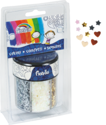 glitry konfety Fiorello 80g 6 barev 170-2380