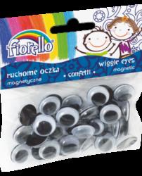oči 15mm magnetické 40ks 170-2381