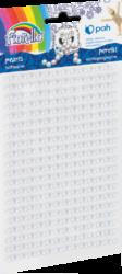 kamínky perličky 170-2575 samolepící bílé