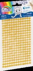 kamínky perličky 170-2582 samolepící žluté