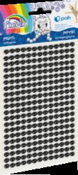 kamínky perličky 170-2576 samolepící černé