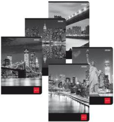 záznamní kniha A4 linka - měkké desky - 96l New York