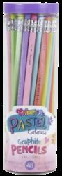 tužka Colorino kulatá  s gumou - tělo pastelové-Školní tužka v 6ti pastelových barevách