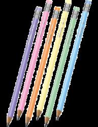 tužka Colorino kulatá  s gumou - tělo pastelové(5907620180844)