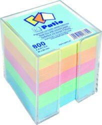 kostka nelepená barevná v plast.zásobníku 8x8 800 listů