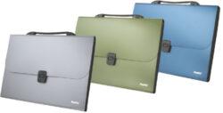 ždesky kufr 13 kapes Pat A4 metal.zelené - 686*
