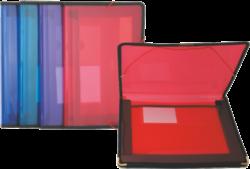 desky 2 kapsy s gumou Pat červené*