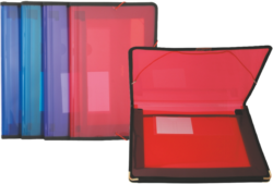 desky 2 kapsy s gumou Pat fialové*