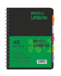 blok kolegien  A5 120 l čtverec  - Pat URBAN-6x 20 listů