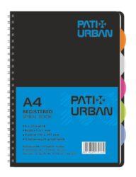 blok kolegien  A4 120 l čtverec  - Pat URBAN-6x 20 listů