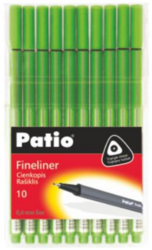popisovač fineliner 0.4 mm TRIO zelený světle Patio-PRODEJ POUZE PO BALENÍ