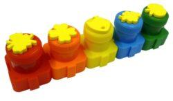 barvy prstové s razítky Colorino  5 barev 18g