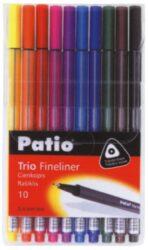 popisovač fineliner 0.4 mm TRIO 10ks mix barev