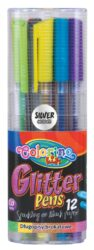 popisovač gel Colorino Glitter trojboký 12barev 1mm