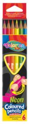 pastelky Colorino trojhranné Neon 6ks