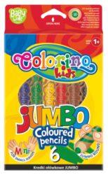 pastelky Colorino kulaté Jumbo Baby Line 6ks + ořezávátko(5907690833121)