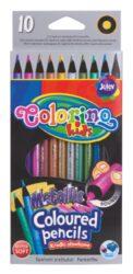 pastelky Colorino kulaté Metal 10ks-Kvalitní kulaté pastelky - speciální metalické barvy extra efektní na tmavých plochách nebo při kreslení detailů.