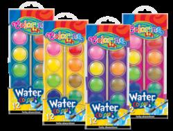 barvy vodové Colorino 12ks-Kvalitní vodové barvy s vysokým podílem pigmentu.