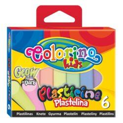 modelína Colorino  6 barev svítí ve tmě
