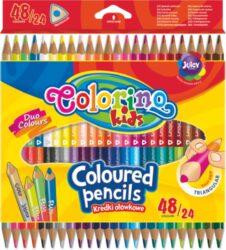 pastelky Colorino trojhranné 48 barev/24ks oboustranné