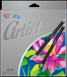 pastelky Colorino Artist 24ks-kulaté dřevěné pastelky vysoké kvality