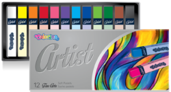 pastely suché Colorino Artist 12ks-výborná roztíratelnost vynikající efekt malování