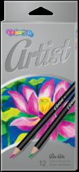 pastelky Colorino Artist 12ks-kulaté dřevěné pastelky vysoké kvality
