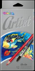 pastelky Colorino Artist akvarelové12ks-kulaté dřevěné pastelky vysoké kvality + štětec