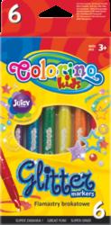 popisovače Colorino Glitter 6ks