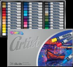 pastely olejové Colorino Artist 36ks-brilantní, stálobarevné barvy