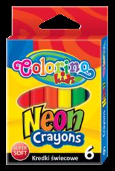 voskovky Colorino  6ks neon