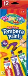 barvy temperové  Colorino 12ml v tubě 12ks